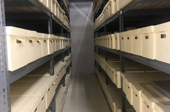 Carl Albert Center archives stacks