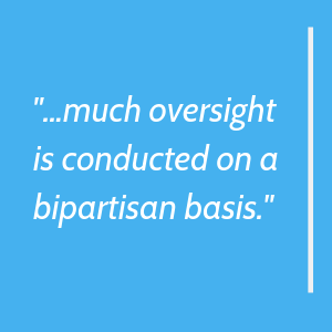 much oversight is conducted on a bipartisan basis.