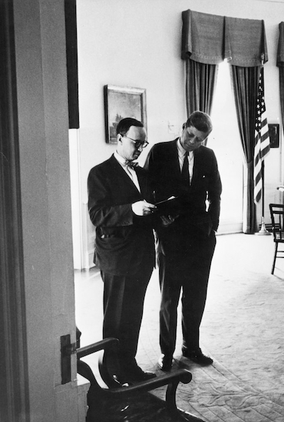 Arthur M. Schlesinger, Jr., with President Kennedy